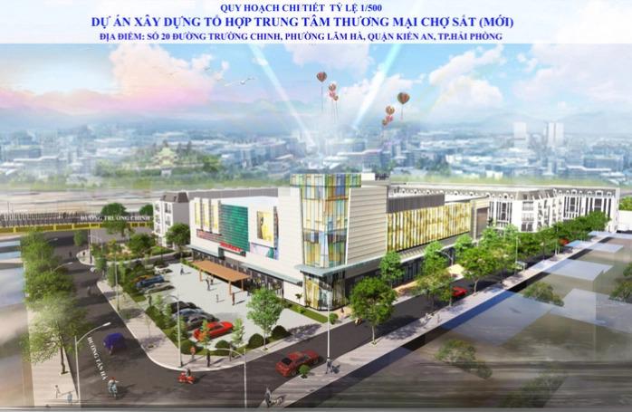 Phối cảnh dự án tổ hợp trung tâm thương mại, vui chơi giải trí, khách sạn 5 sao và văn phòng cho thuê tại chợ Sắt, Hải Phòng.